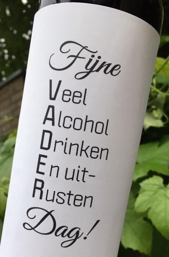 Wijnetiket Vaderdag, B2B Fun Wine Labels