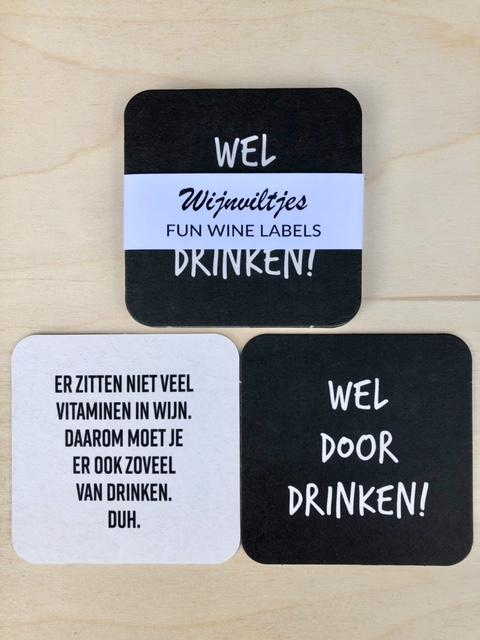 wijnviltje door drinken