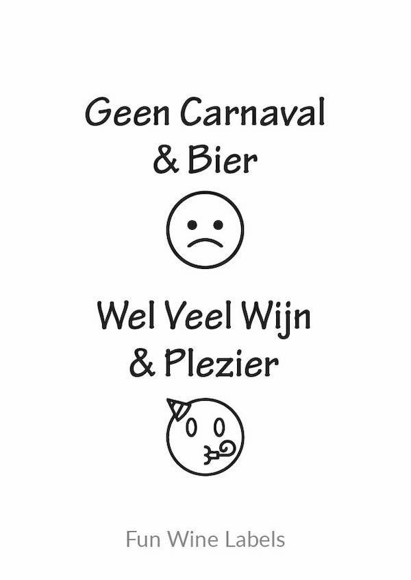 design carnaval wijn