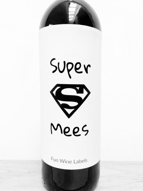 wijnetiket super mees